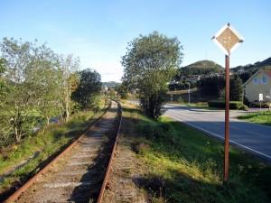 Ålgårdbanen like før Ålgård sentrum