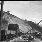 Bygging av Ålgårdbanen ved Foss-Eikeland