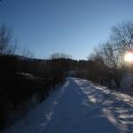 Snø på linjen