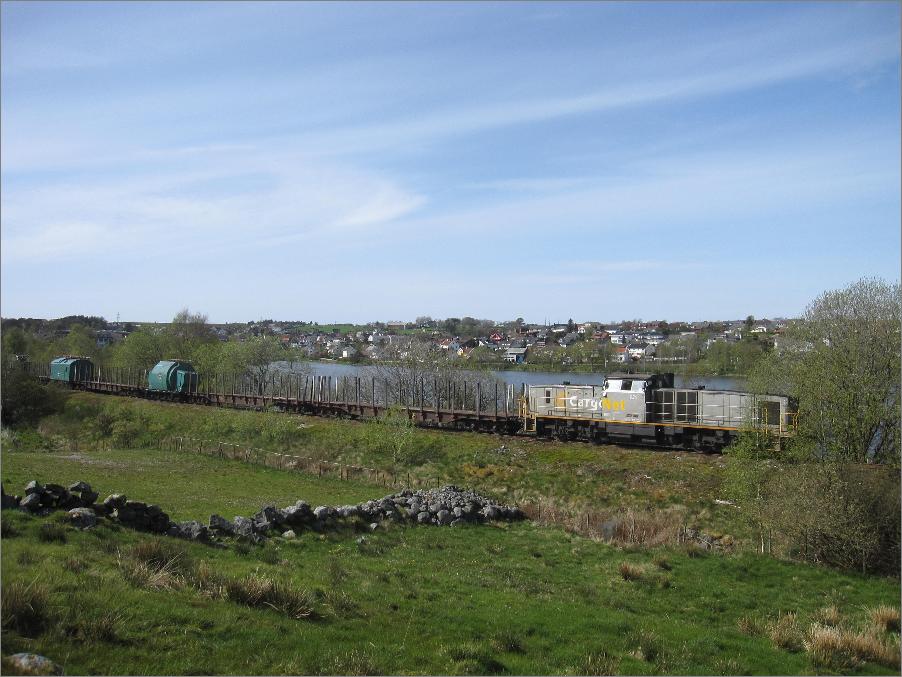 Tog på Ålgårdbanen Mai 2012