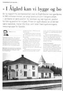 Faksimile fra Næringslivsmagasinet Rosenkilden Nr. 11 2012