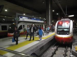 Den nye sentralstasjonen i Palma med nye elektriske lokaltogsett