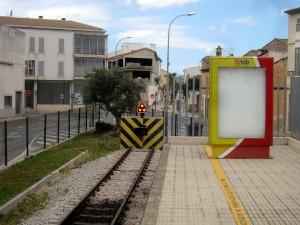 Endestasjonen i Sa Pobla har kun ett spor til plattform. Kanskje kommer videre forlenging til Alcudia?