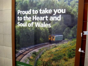 Reklame for Arriva Trains Wales